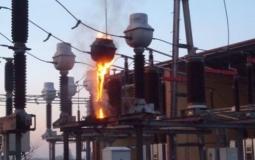 Pożar stacji transformatorowej