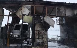 Pożar warsztatu samochodowego